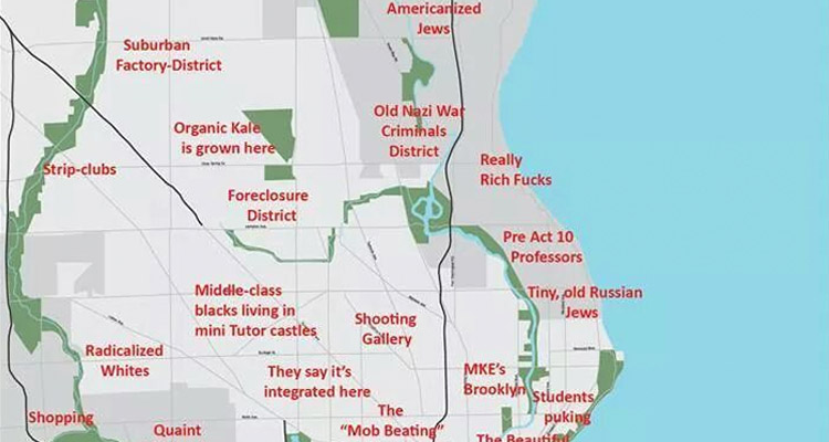 Here S A Pretty Awful Judgmental Map Of Milwaukee East bay should just be alameda county, and east bay should be another font size larger. judgmental map of milwaukee