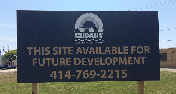 CudahyDevelopmentSign