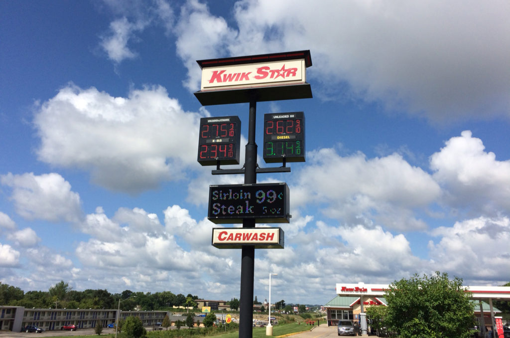 We went to Kwik Star, the bizarro version of Kwik Trip that